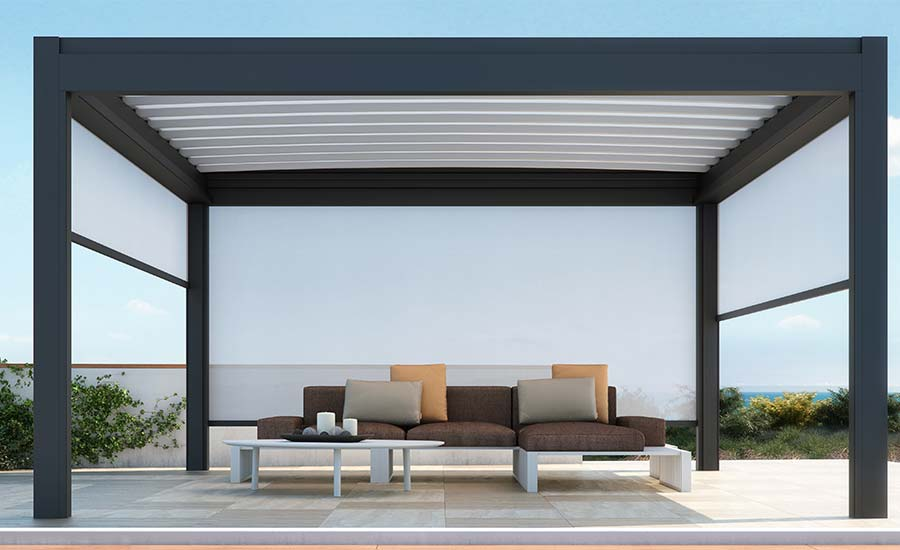 store coulissant pour pergola awesome rideau exterieur beautiful rideau exterieur pour pergola. Black Bedroom Furniture Sets. Home Design Ideas